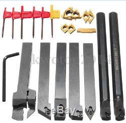 10 (7PCS Set Of 12mm Lathe Turning Tool Holder Boring Bar + DCMT/CCMT Insert)