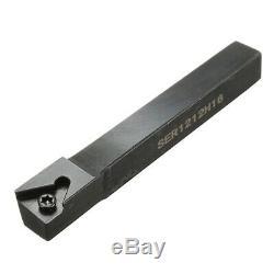 12Mm 21Pcs/Set Shank Lathe Turning Tool Holder Boring Bar +Insert+Wrench S12M t9