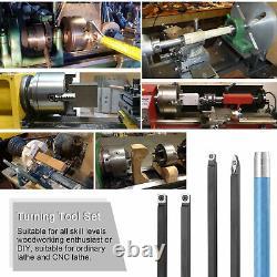 14PCS 12mm Shank Lathe Turning Tool Holder Set Boring Bar with Carbide Inse T8F6