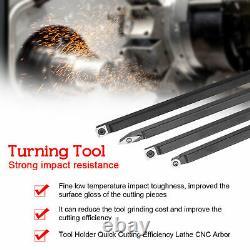 14PCS 12mm Shank Lathe Turning Tool Holder Set Boring Bar with Carbide Inse V9D1