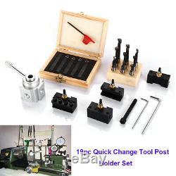 19pc Quick Change Tool Mini Post Holder Set Lathe Bar Boring CNC Holder Turning