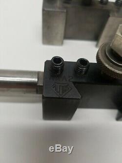 (2) Original Aloris AXA Quick Change Tool Holders Plus Boring bar withinsertAXA-2