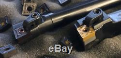 25 PC SET & Lathe Tool Holder & Boring Bar CNMG120408 RU 1204 Carbide 5/8