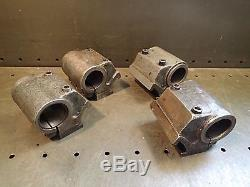 4 Pc Lot 1-3/4 Bore Screw Machine Dovetail Clamping Mount Bar Tool Holders