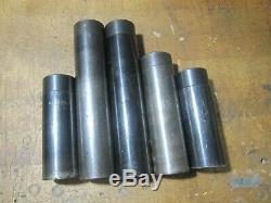 (5pcs) GLOBAL CNC 1-1/2 OD boring bar tool holder reducer sleeve 1/2 3/4 1 ID