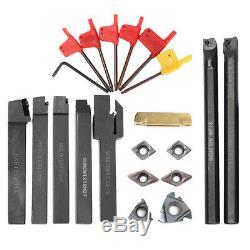7 Set CNC Lathe Turning Tool Holder Boring Bar + Carbide Insert + Wrench Kit