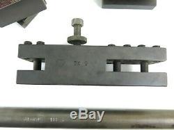 Aloris BX Tool Post and Holder Lot BX1 BX9 BX41 with Aloris BB3 Boring Bar