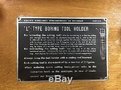 BORING BAR SET #4 MORRIS TAPPER WithSCOPE & DIAL, L-TYPE BORING TOOL HOLDER