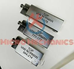 Combo Of 3 Van Norman Boring Bar Tool Holders Short Medium Long 944, 944s, 777