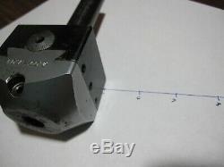 Criterion S-2 2 adjustable 1/2 boring bar holder. 001 precision 3/4 shaft