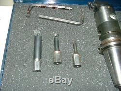 D'Andrea Boring Head Set Coolant Thru On CAT40 CNC Holder Indexable Carbide Bars