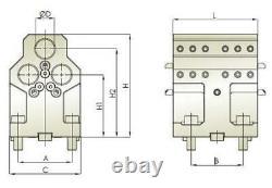 Doosan BMT55 Boring Bar Tool Holder 3 Pos