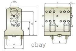 Doosan BMT65 Boring Bar Tool Holder 2 Pos. Internal Coolant