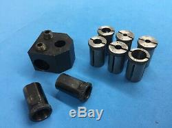 Hardinge etc carbide boring bar & tool holder lot 5/8 drill bushing C19 grooving