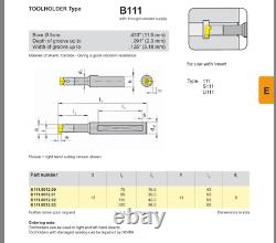 Horn Boring Bar Standard Tool Holders B111.0012.01. Carbide Inserts