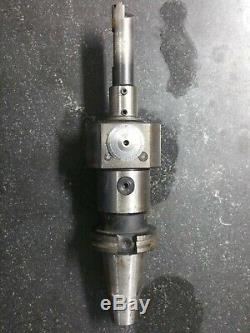KOMET ABS 50 KFK-1 M0206201 BORING HEAD with A5210150 Cat 40 holder and bar