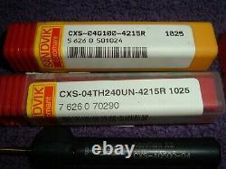 LOT (5) Sandvik CoroTurn XS boring bar SET CXS-04T098-15 HOLDER SMALL TINY MINI