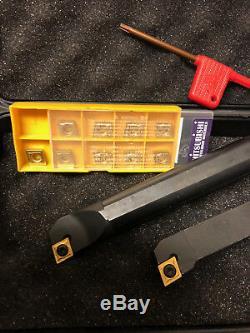 Lathe Indexable Turning Tool Set Tnmg Boring Bar Set Holder 3/8 30 Pcs Ccmt