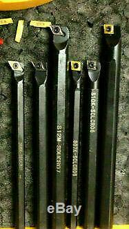 Lathe Tool Tool Holder Set X 6 Boring Bars 3/8&1/2