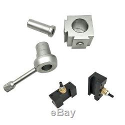 Mini Quick Change Lathe Tool Post Holder Boring Bar Wrench Screw with Case B2Y2