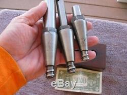 Moore Tools 3 pc set 5/8 1 wide boring bar bars & arbor holder