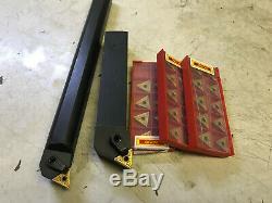 New 3/4 TNMG Lathe Boring Bar & Holder With 30 Carbide Inserts