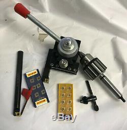 New 5/8 DCMT Boring Bar/ 5/8 CCMT Holder/ 1/2 Drill Chcuck MT2/ BXA Tool Post