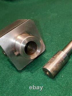 Precision lathe 2 1/4 square head boring tool holder with boring bar and cutter
