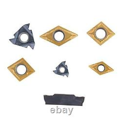 Shank Lathe Turning Tool Holder Boring Bar 7Pcs Set CNC Carbide Inserts Wrenches