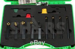 Shars 3/8 x 1/2 x 3 Turning Tool Holder & 5/16 x 4 Boring Bar 9pcs Set New M