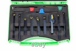 Shars 5/16 x 3/8 x 3 Turning Tool Holder & 5/16 x 4 Boring Bar 9pcs Set New M