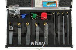 Shars 5/8 x 5/8 x 4 Turning Tool Holder & 1/2 x 6 Boring Bar 9pcs Set New M