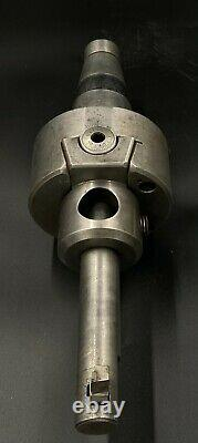 Used Flynn MFG Co Adjustable Boring Head Cat 50 Taper Tool Holder and Boring Bar