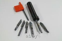 Vardex #035-00109, Micro Bore Tool Holder With 6 Micro Boring Bar Inserts A443