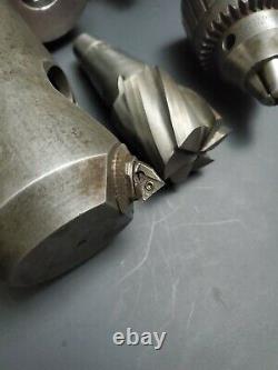 Weldon B&S NMTB40 Tool Holder Lot End Mill Boring Bar 40 Taper Machinist Sharpe