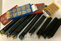 X 4 Boring Bar Tool Holder Set 40 Carbide Inserts Tnmg Cnmg Vnmg Dnmg 3/4 Shks